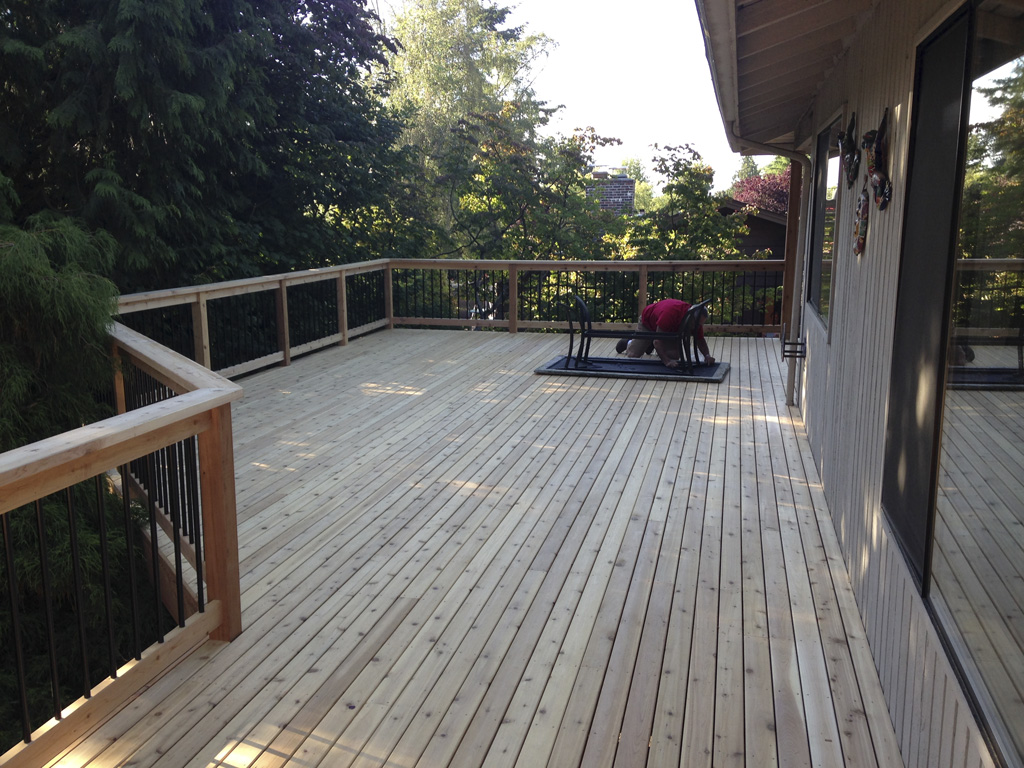large deck remodel