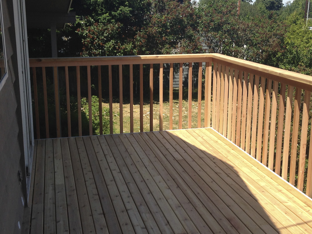 wood deck remodel