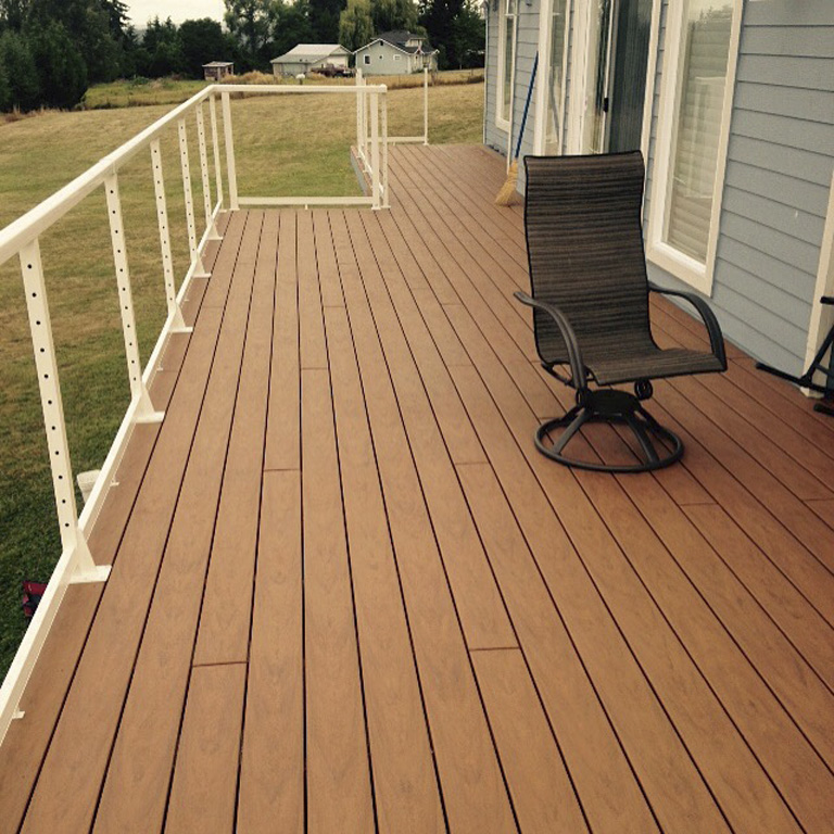 long narrow deck