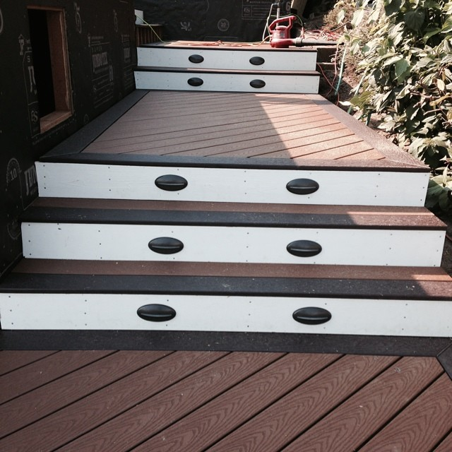 two tone deck stairs