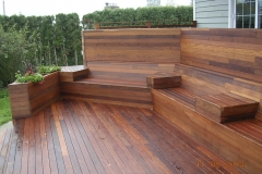 exotic wood deck