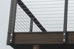 steel and wire deck railing