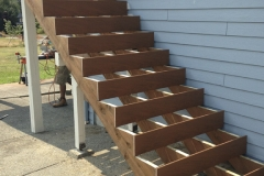 deck stairs frame