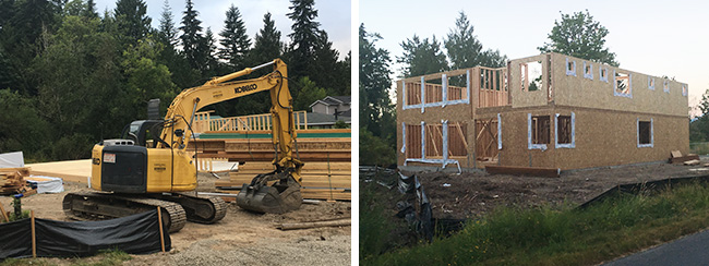 framing, new construction, Harmony Design & Build